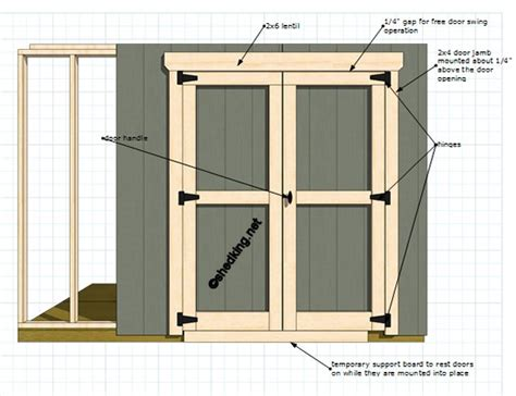 how to build swinging barn doors double shed doors