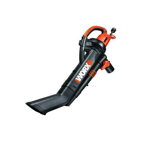worx 210 mph 350 cfm electric 12 leaf blower mulcher