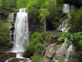 cascadding waterfalls waterfalls natural landscape