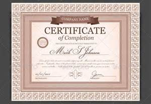 free printable certificate of completion template sle certificate of completion template 8 documents