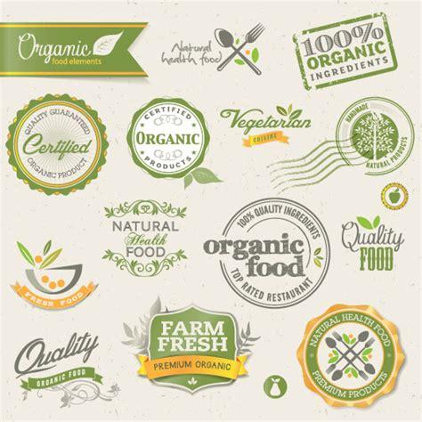 food label design eps set of organic food labels vector 01 vector label free