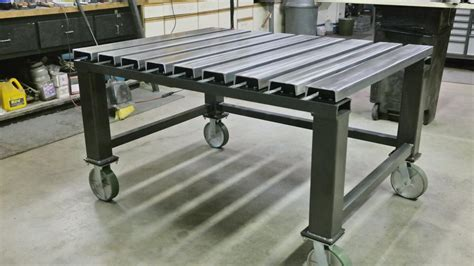 how to build a welding bench c channel top welding table