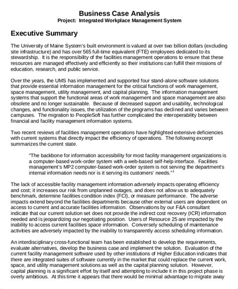 business executive summary template 7 executive summary exles free premium templates