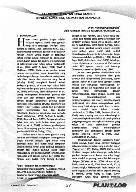 (PDF) Karakteristik Hutan Rawa Gambut di Pulau Sumatera