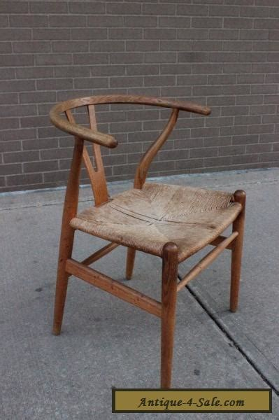 hans wegner ch wishbone chair oak frame authentic mid century danish modern  sale  united