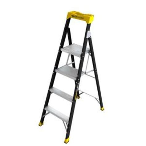 gorilla ladders 10 ft reach fiberglass ladder with 250 lb