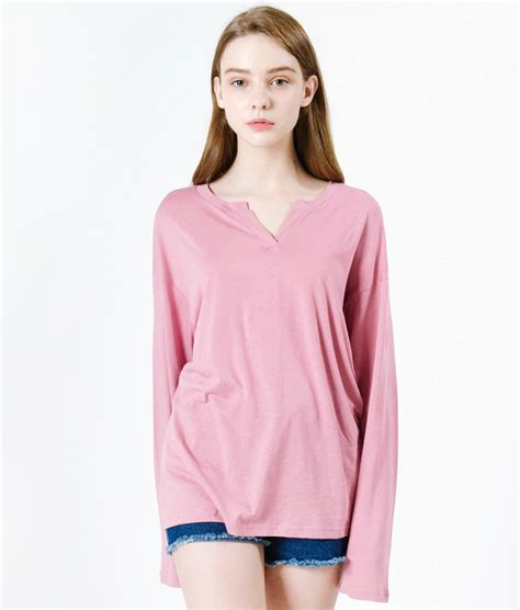 Split Neck Sleeve T Shirt split neck extended sleeve t shirt mixxmix official