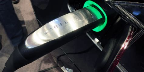 Tesla Model S Charging Cable Charged Evs Tesla Upgrades Wall Charger Connectors To