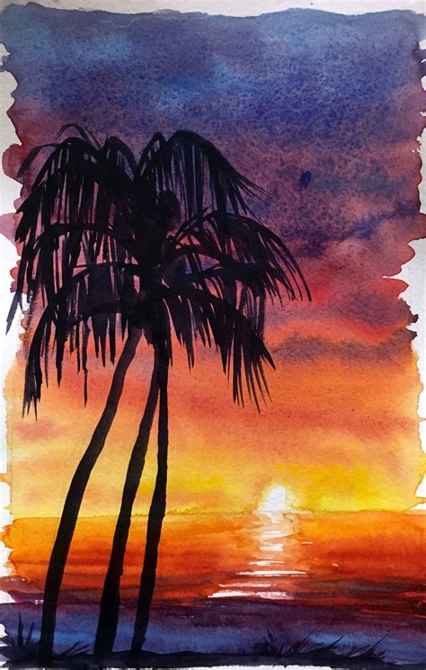 tutorial watercolor sunset how to paint stunning sunset skies using just imagination