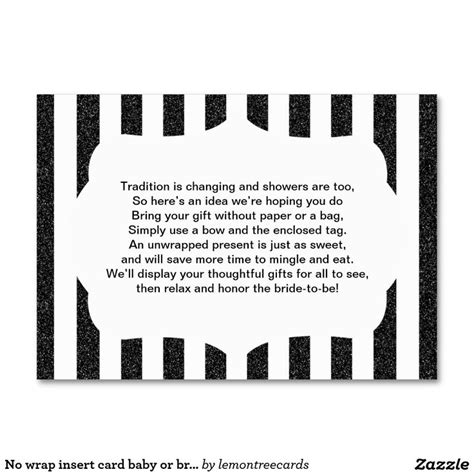 Baby Shower No Wrapping Paper Wording by 9 Best Images About Bridal Shower Ideas On Sip