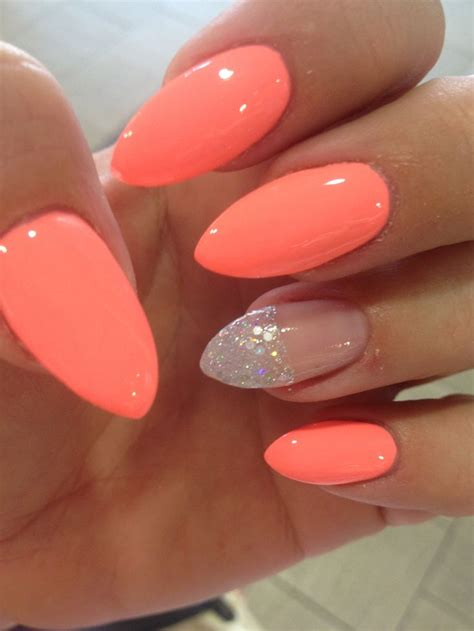 25 best ideas about coral gel nails on summer