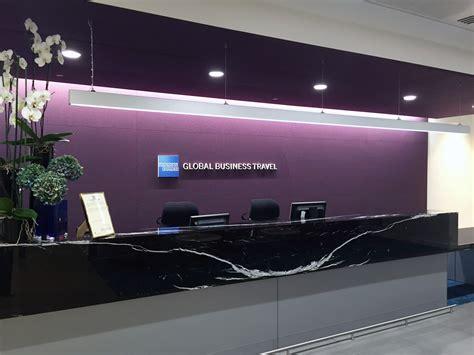 American Express Travel Office by Greeting Space At Canary Whar American Express Global