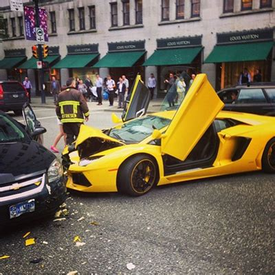 photos lamborghini totalled in downtown vancouver