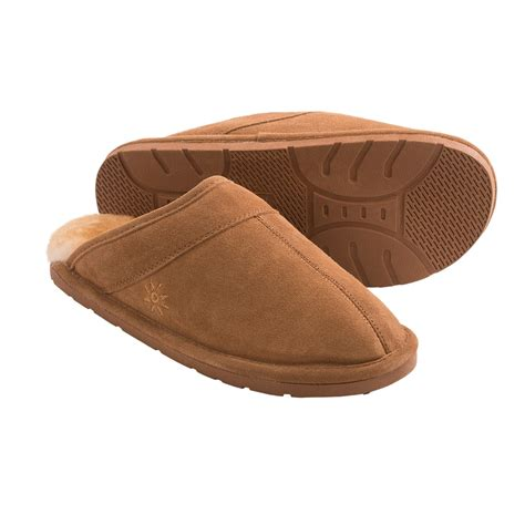 sheepskin lined slippers dije scuff slippers suede sheepskin lined for