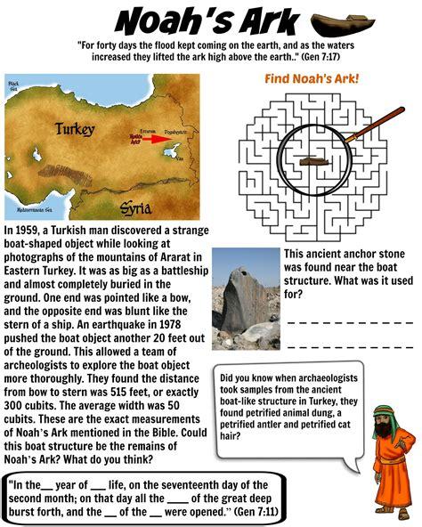 noah s ark evidence bible worksheet for kids free download