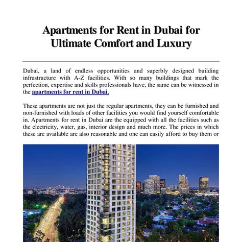 appartments for rent in dubai apartments for rent in dubai docx docdroid