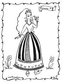 princess coloring pages printable paper craft