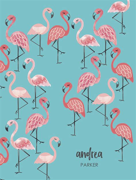 flamingo deluxe monthly planner