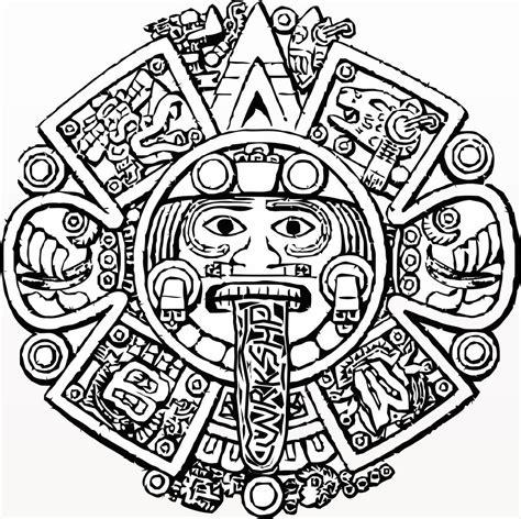 aztec calendar tattoo design aztec calendar coloring page aztec calendar coloring page