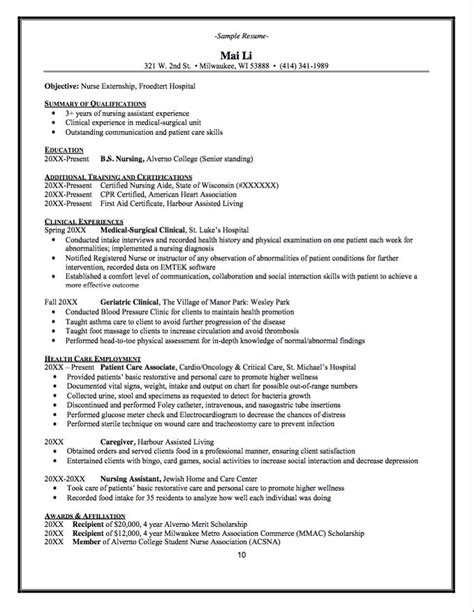 nursing externship resume 3 cover letter resume for
