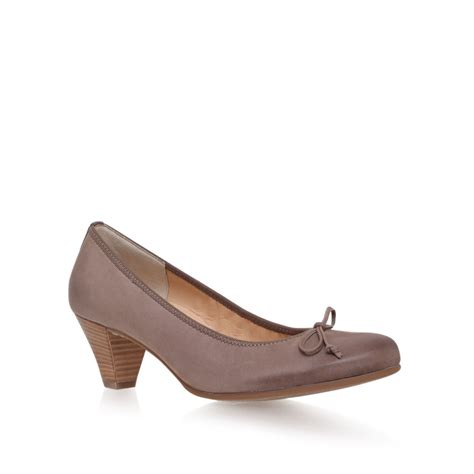 paul green shoes paul green court shoes in purple taupe lyst