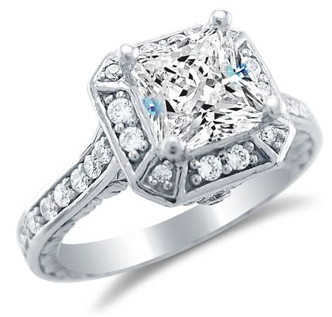 Cz Engagement Rings by Cubic Zirconia White Gold Wedding Rings Cheap Navokal