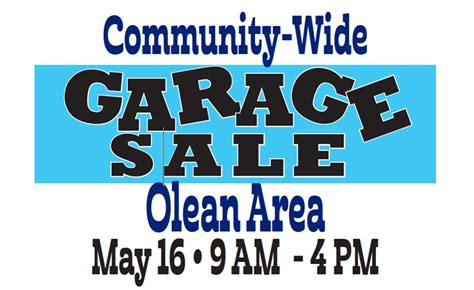 olean s community wide garage sales enchanted mountains