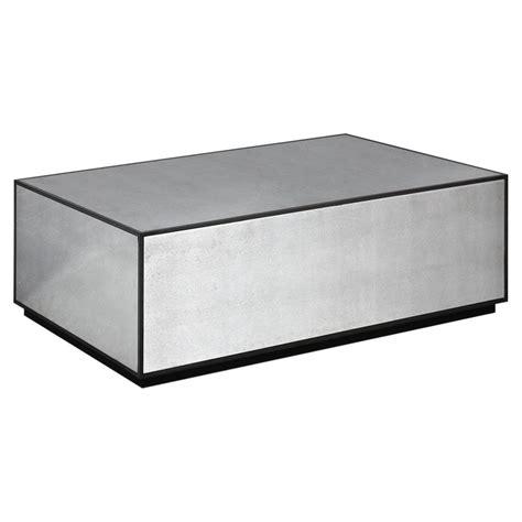 black mirror blocked tila modern industrial black mirror block coffee table