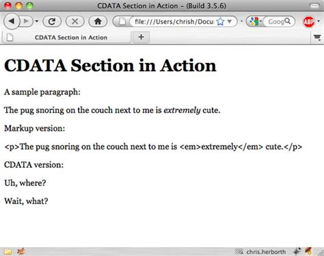 Dealing With Data In Xml