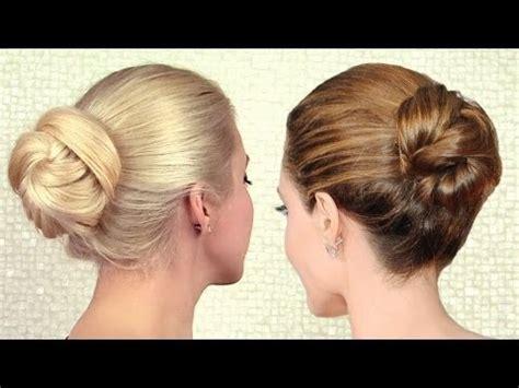 2 minute elegant bun hairstyle totally easy hair tutorial image gallery elegant bun