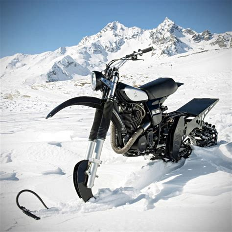 snow motocross bike northern lights optic s promotional snow bike is a classic