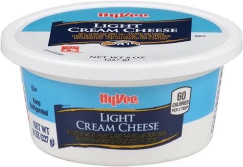 calories in light cream cheese hy vee light cream cheese hy vee aisles online grocery
