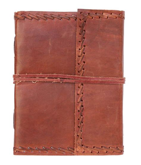 Handmade Leather Diary - craftstages handmade leather diary brown buy at