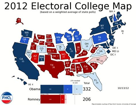 map of the us electoral votes frontloading hq the electoral college map 10 13 12