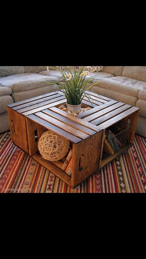 4 Crate Coffee Table Outdoor Coffee Table House Ideas Pinterest Outdoor Coffee Tables