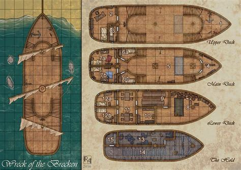 pirate ship floor plan 118 best images about rpg maps ships water on