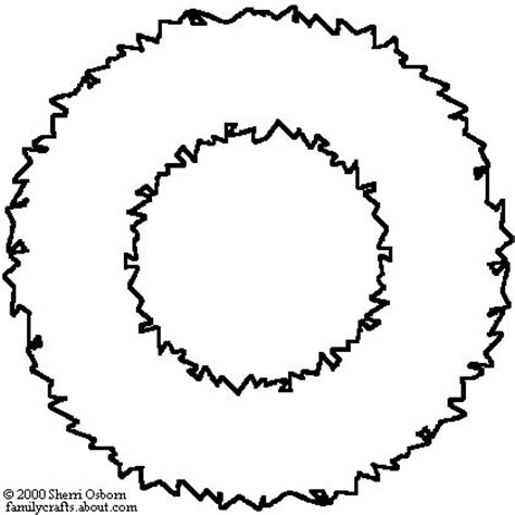 christmas wreath clipart outline   cliparts  images  clipground