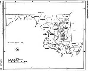 Maryland State Outline Map by Maryland Free Map