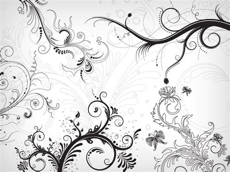 layout photoshop brushes brush photoshop ornements floral ornament brushes par idealhut