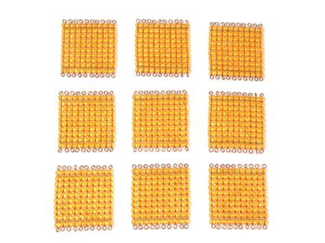 printable montessori golden beads montessori beads 9 golden bead hundred squares c155 buy
