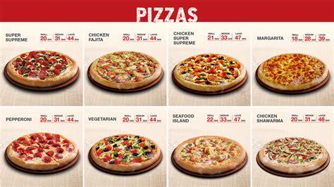 pizza hut table dubai pizza hut menu