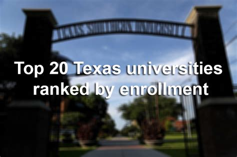 Of San Antonio Mba Ranking by Top 20 Universities Ranked By Enrollment San