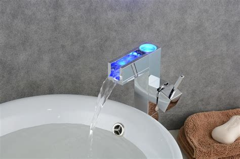 changing bathroom sink faucet bathroom sink faucet with color changing led waterfall