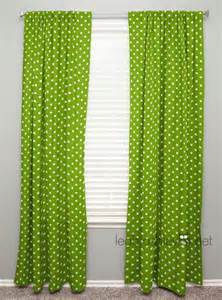 Lime Green Polka Dot Curtains Curtain Panel Lime Green White Polka Dot Drew By Leahashleyokc