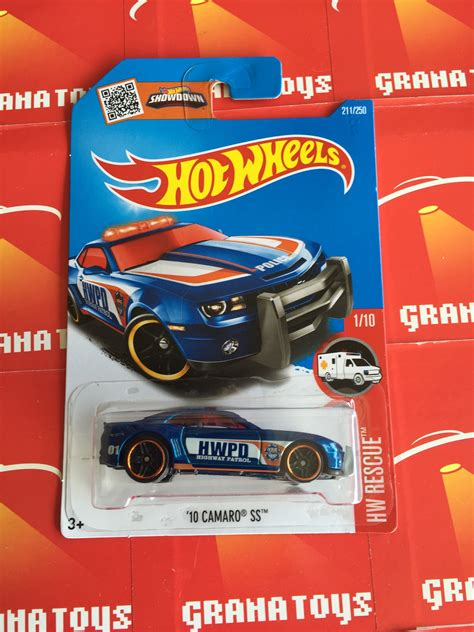 Hotwhells 10 Camaro Ss 10 camaro ss 211 blue 2016 wheels p grana toys