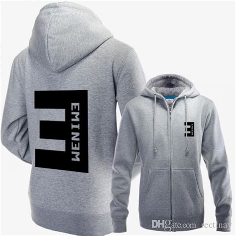 eminem zipper hoodie 2018 eminem zip up hoodie jacket with big e logo on the