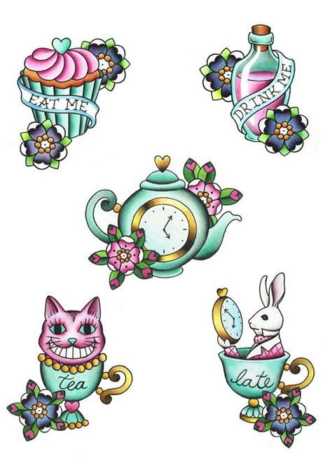 alice in wonderland tattoos small best 25 ideas on and