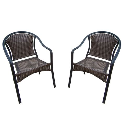 Stackable Wicker Chairs by Oakland Living Tuscany Stackable Wicker Chairs With