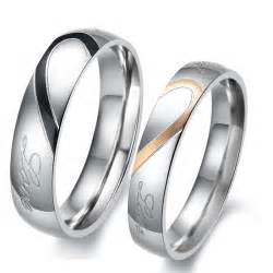 matching wedding rings titanium stainless steel mens promise ring wedding bands matching set