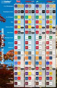 college football colors class it up with a new college teams graphic color match